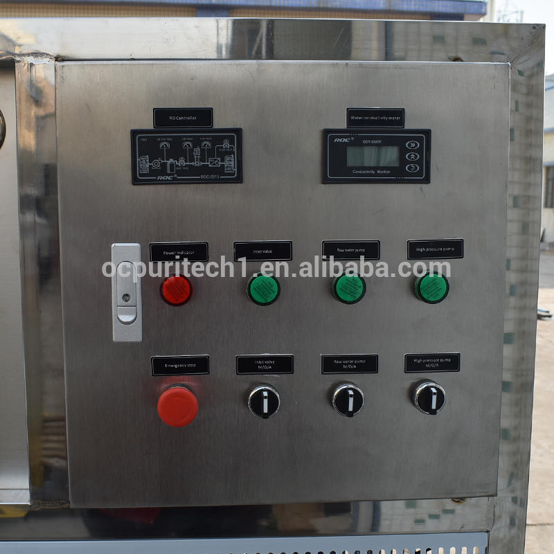 1000L/h Industry Reverse Osmosis for Hotel Drinking Water Purification with manual sand carbon softener