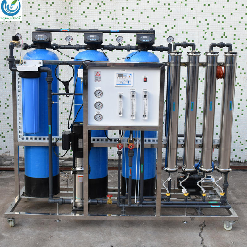 1000LPH Industrial Reverse Osmosis Water Purification System for river borehole salty water treatment system