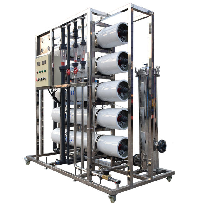 5T Osmosis Industrial Stainless Steel Frame RO Water Machine