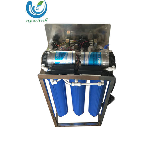 Double pump 800GPD commercial RO water filter system purifying machine price