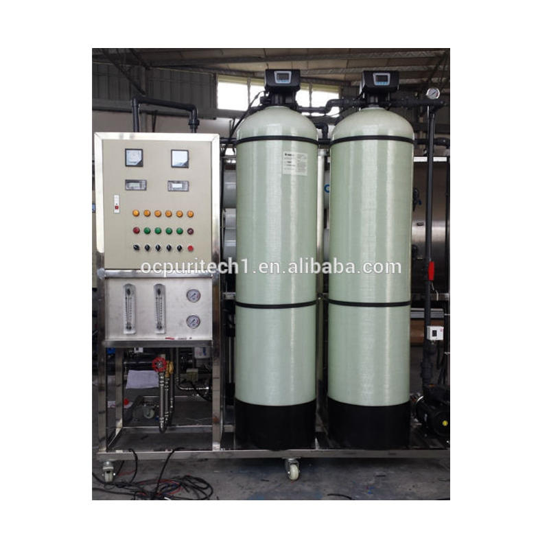 2000LPH Skid Mounted pure water purifier RO membrane water treatment plant