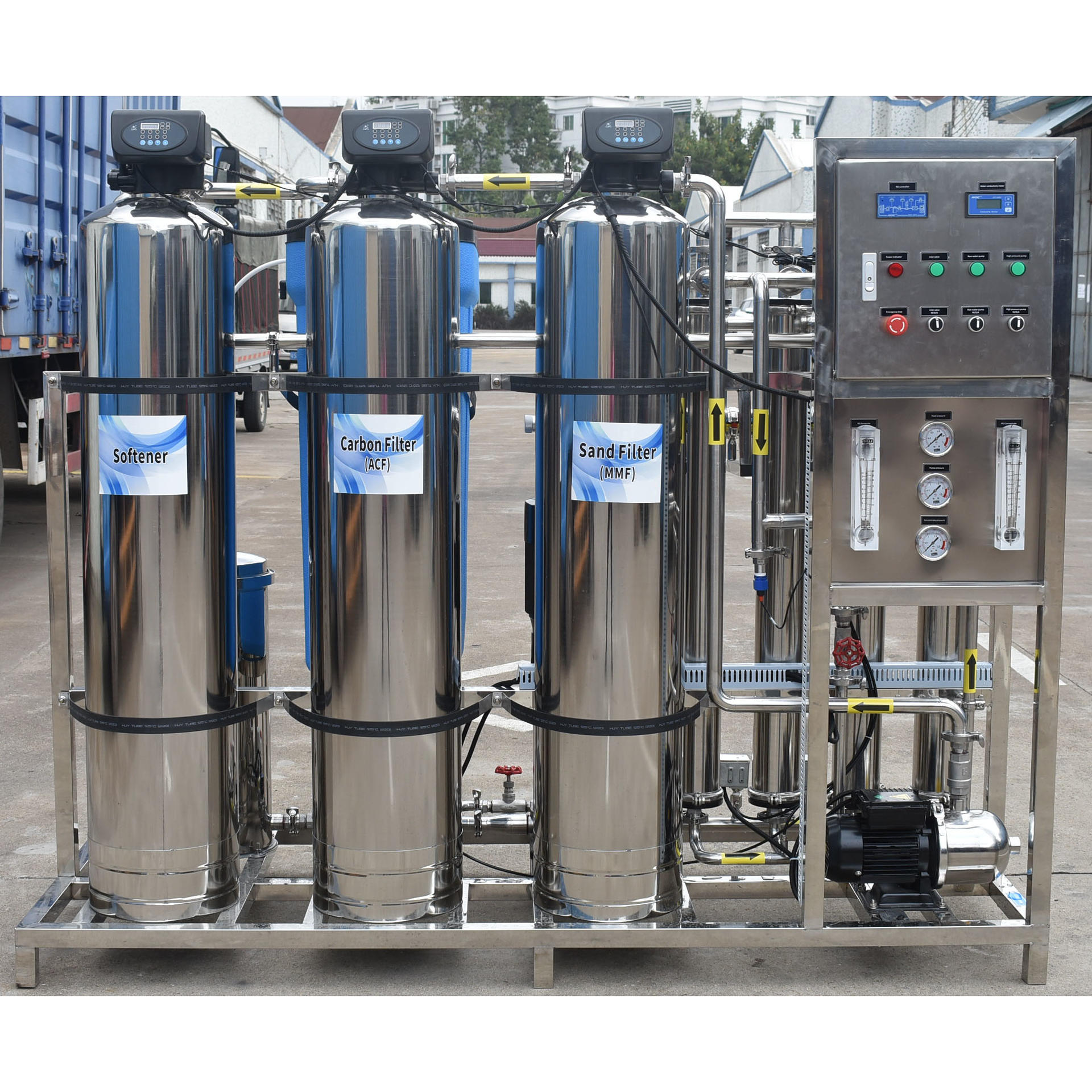 1000lphstainless steel osmosis reverse ro system