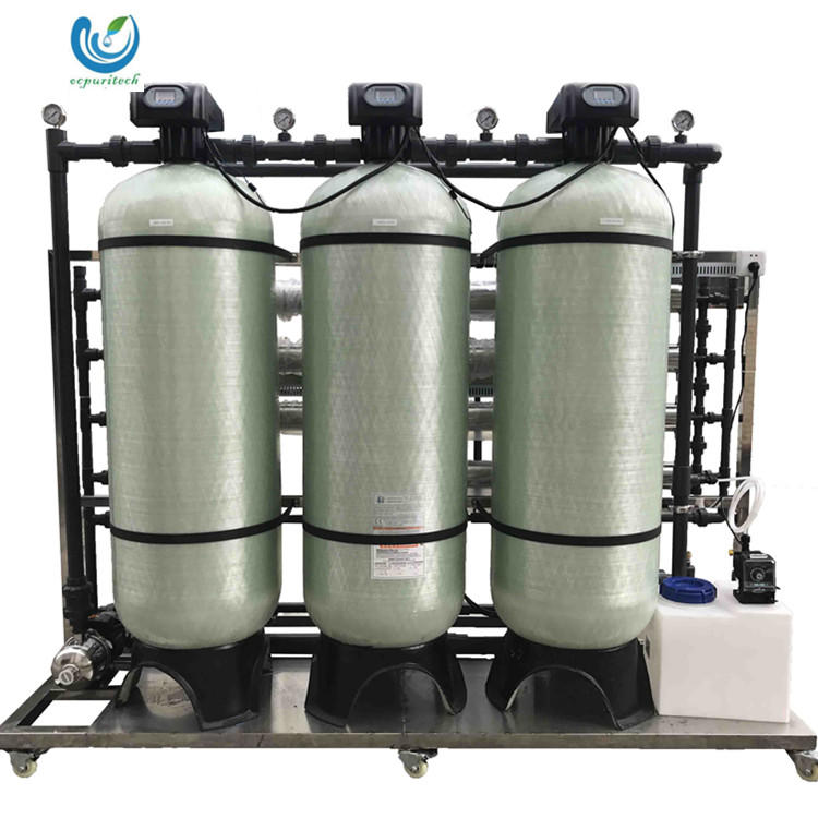 RO Water purifier spare parts 2T/H salt water treatment plant water bottle production line