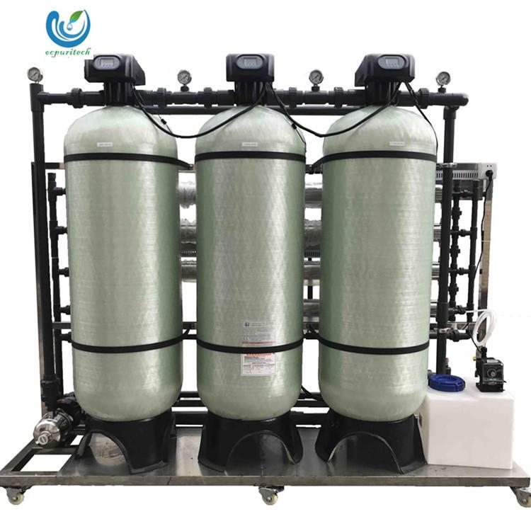 RO Water purifier spare parts 2T/H salt water treatment plant water bottle production line