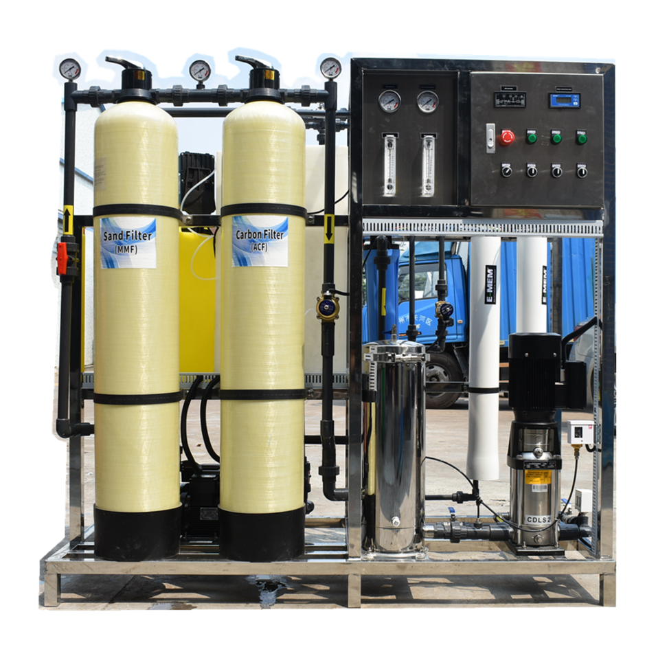 Guangzhou 500 LPH RO Plant pure water making machine