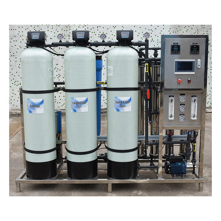 1000LPH RO Reverse Osmosis Water Treatment Purification Plant China Pure Suppliers System Filtration With Remote Control PLC