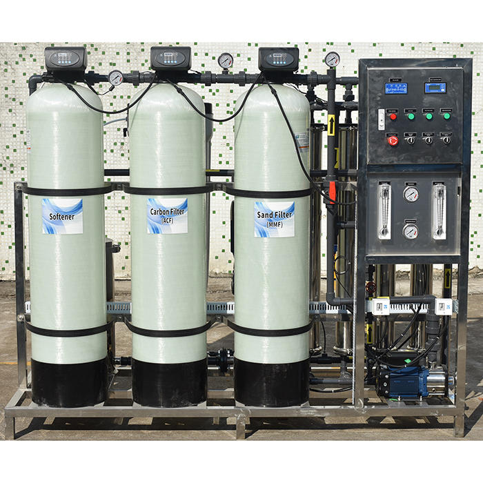 Reverse osmosis water treatment 1000lph ro plant