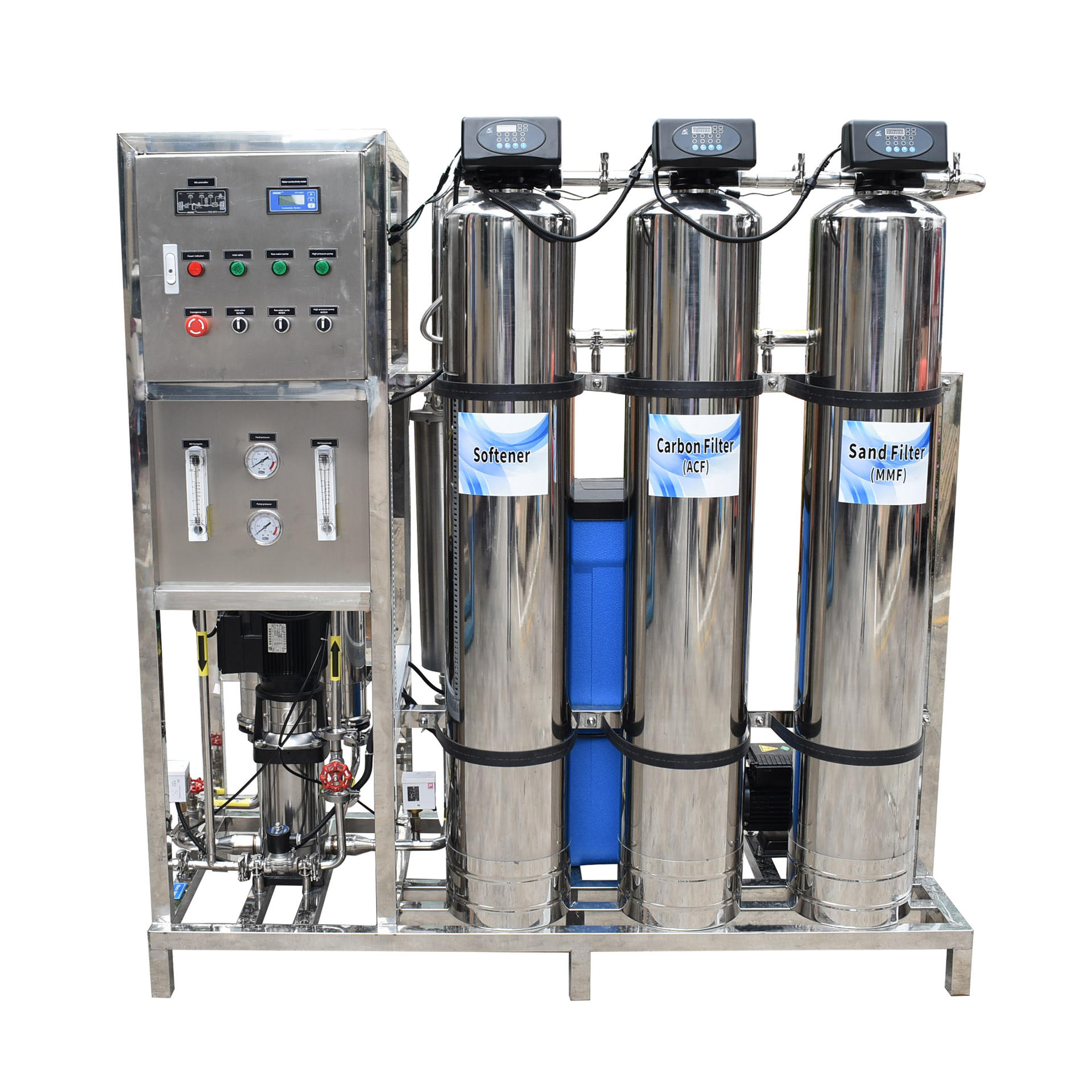 500Lp/H Reverse Osmosis Full stainless steel industrial ro water treatment plant machine for Drinking