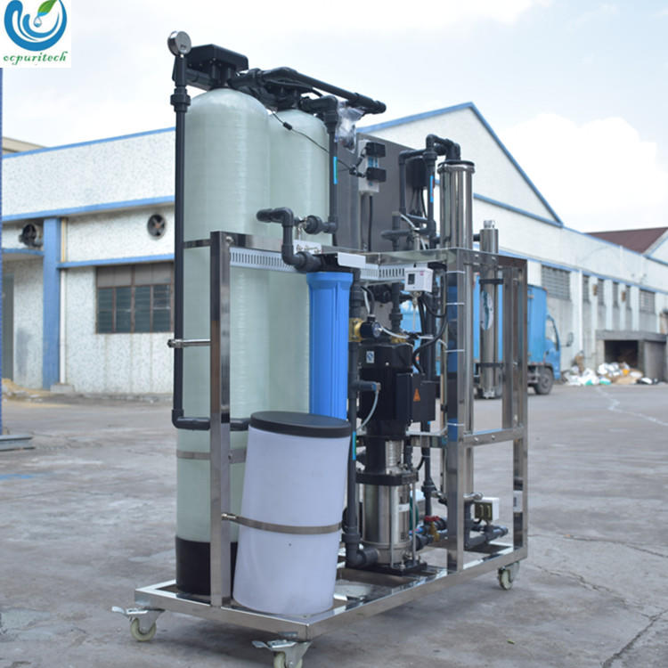 small RO machine 250L/H with water softener for drinking water treatment/reverse osmosis system