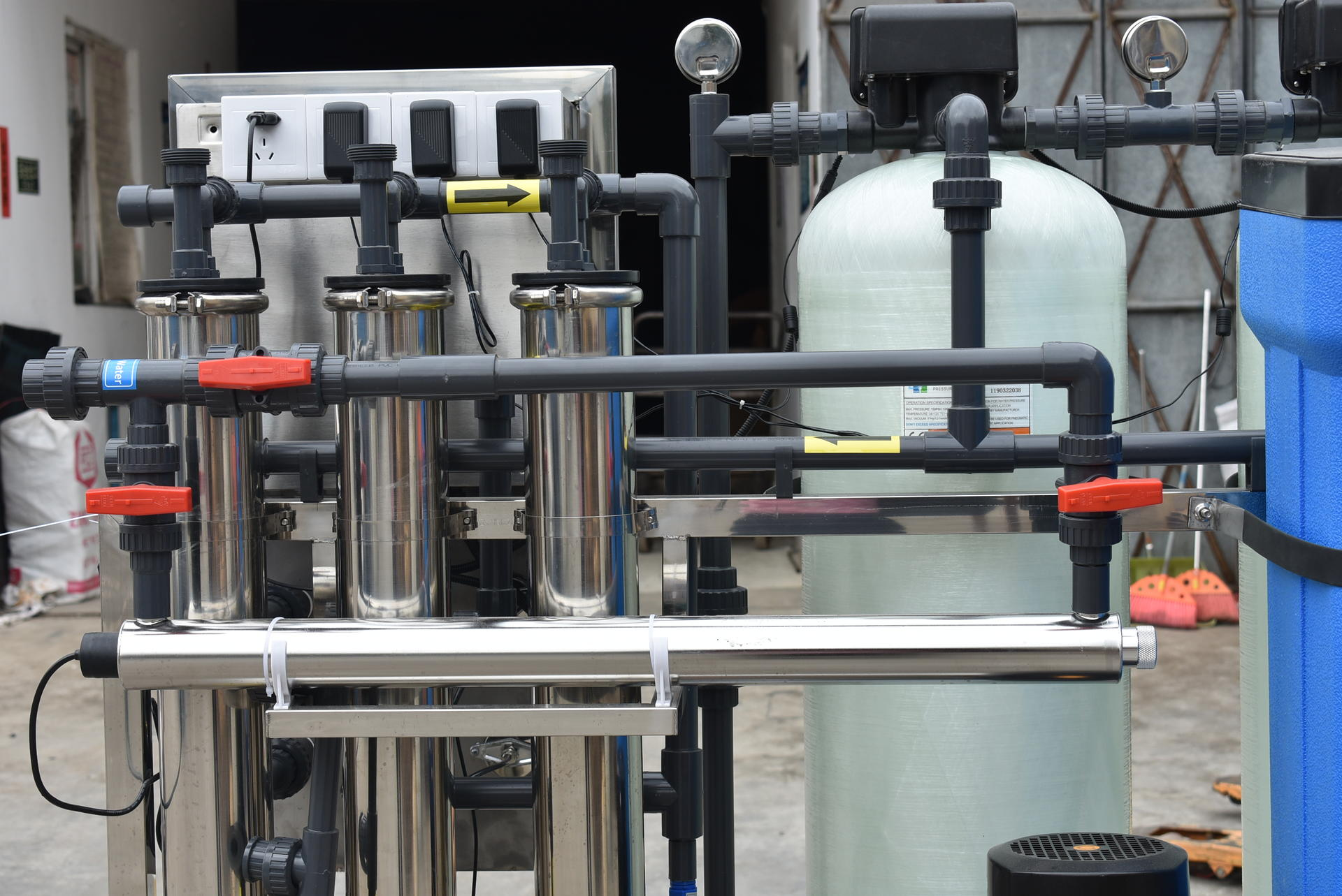 750LPH mineral water treatment plant,reverse osmosis ro system
