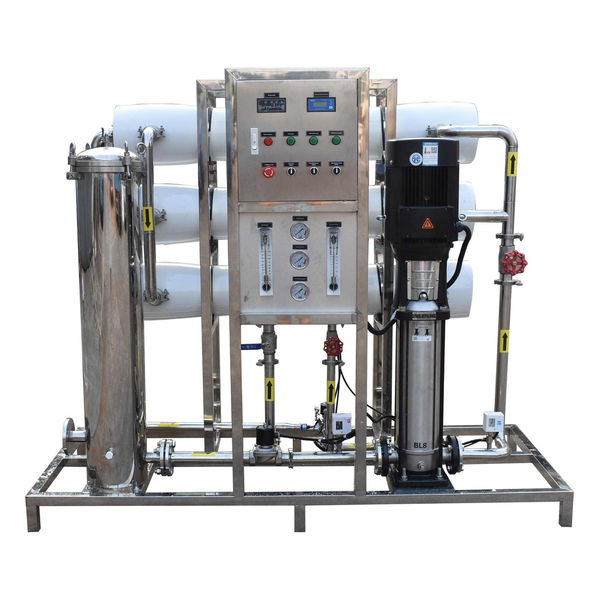 3000lph reverse osmosis system membrane drinking water treatment plant price