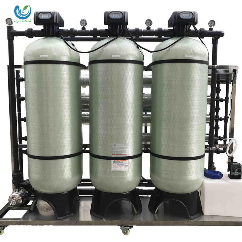 2T/H FRP tank material 4080 membrane housing reverse osmosis system for mineral drinking and juice water treatment plant