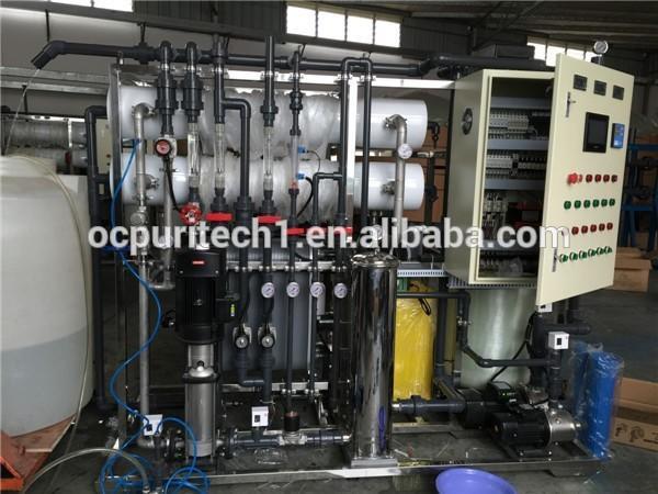 6000L/Hr RO+EDI deionization water purification RO system plant