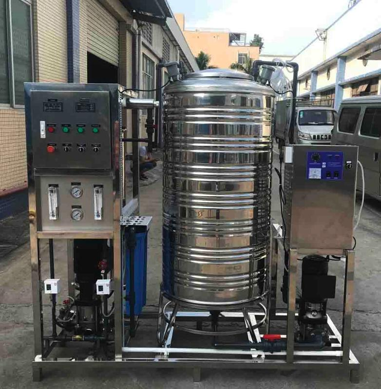 500LPH Portable Industrial Reverse Osmosis Water Purifiers Treatment Plant with Ozone