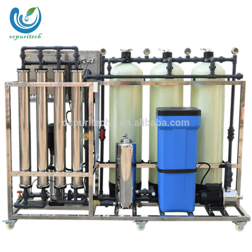 1000L/h RO Water Treatment Plant For Industrial Water Treatment with manual softener