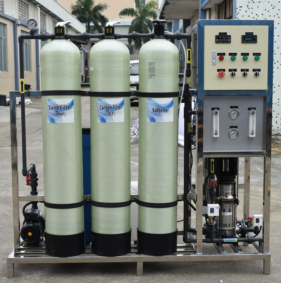Industrial Reverse Osmosis Drinking Water Purification System / RO Pure Water Treatment Filtration Purification