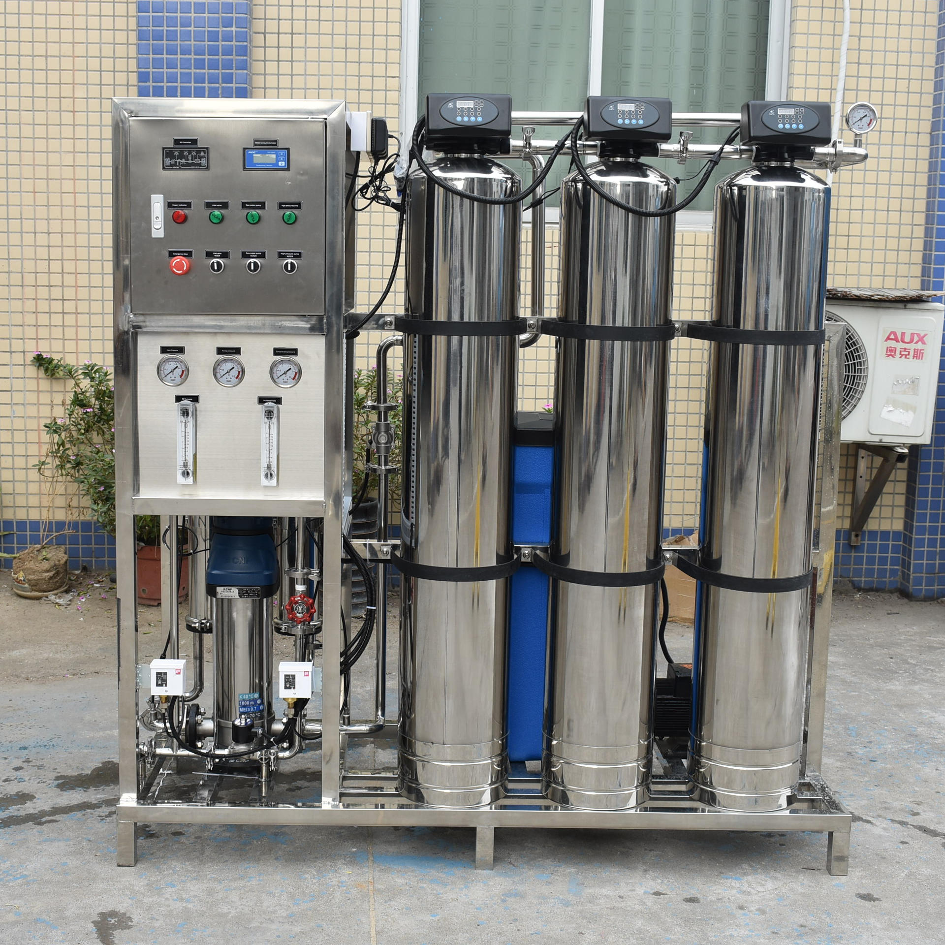 500LPH RO Plant Stainless Steel 304 With RO 4040 Membrane