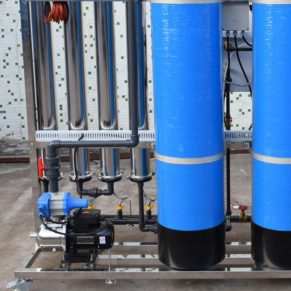 1T/h stainless steel water tank/water storage tank with plastic for PLC control ro system