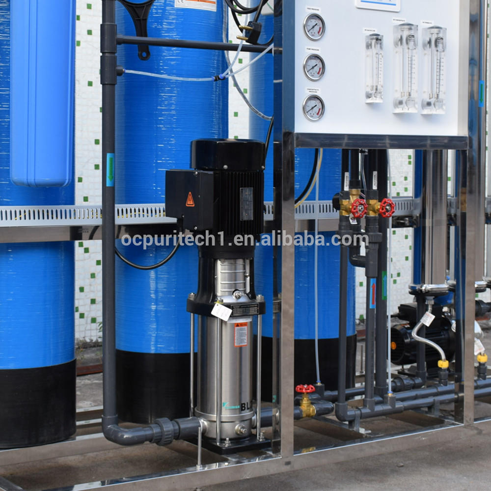 1000LPH Water treatment of purified water system used for groundwater well water