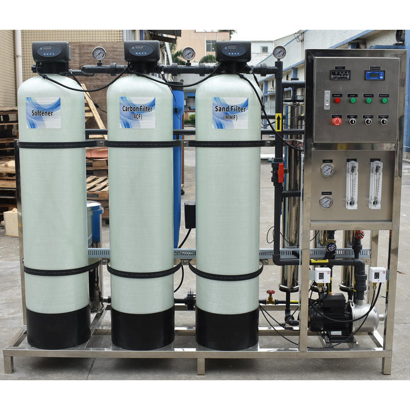1000LPH Industrial RO Water Treatment Plant Drinking Purification Machines