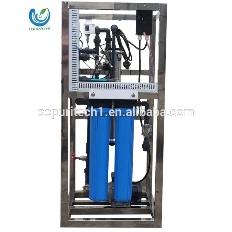 commercial 800GPD rosmallfully automatic mineral water plant reverse osmosis system with pump