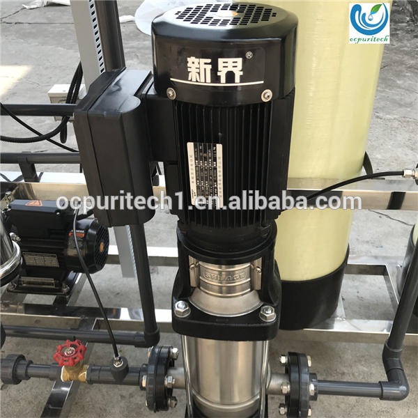 pure drinking water treatment plant equipment specification with tanks