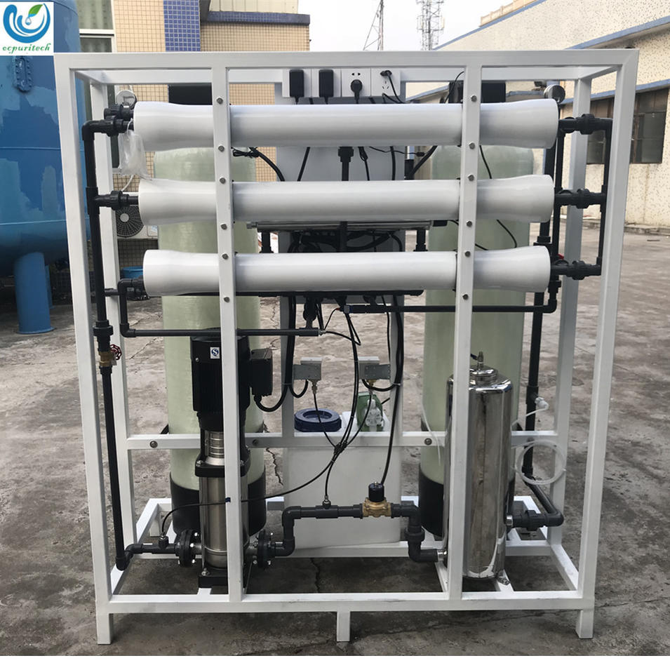 SS304 frame anticorrosive 750LPH RO drinking water purification plant