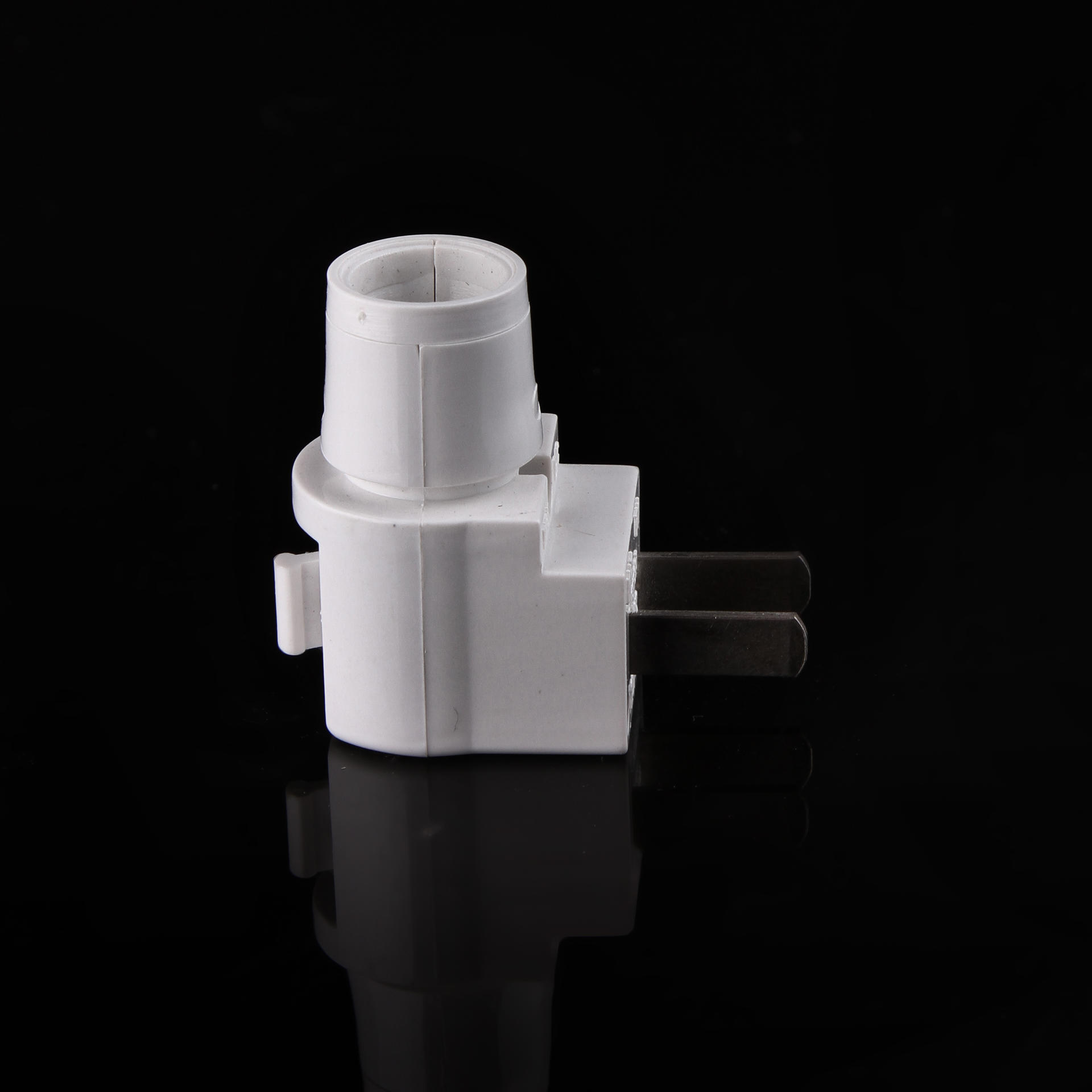 CE ROSH E12 flat plug in approved Switch lamp holder electrical plug socket for acrylic night light