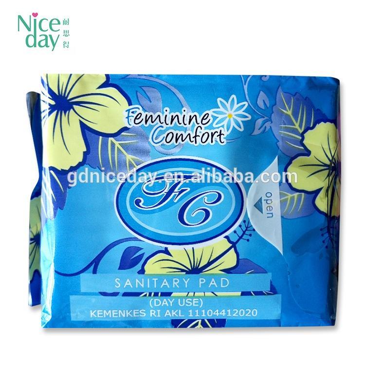 Wholesale female famous sanitary napkin women cotton sanitary pad for regular day use sanitary pads price to kenya