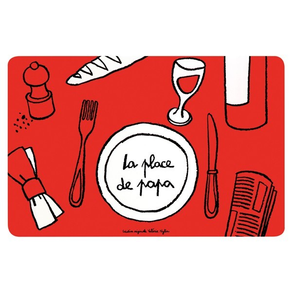 Map of the World printed table mat for kids leaning