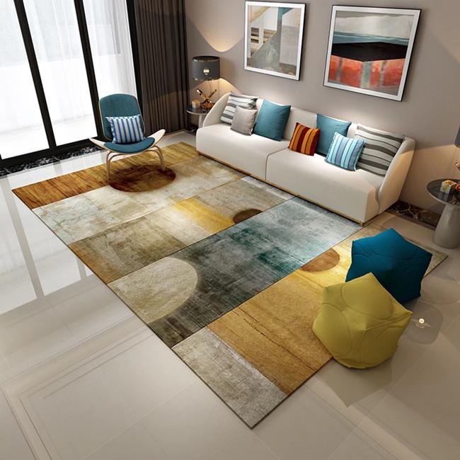 High quality printed outdoor Non-woven fabric non slip foam floor mat