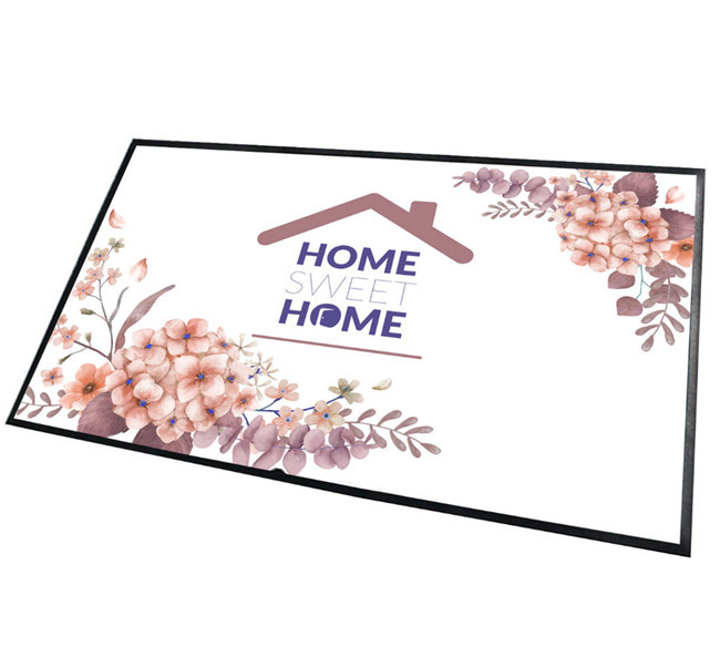 Tigerwings Welcome Custom Design Anti Slip Rubber Floor Mat for Sublimation