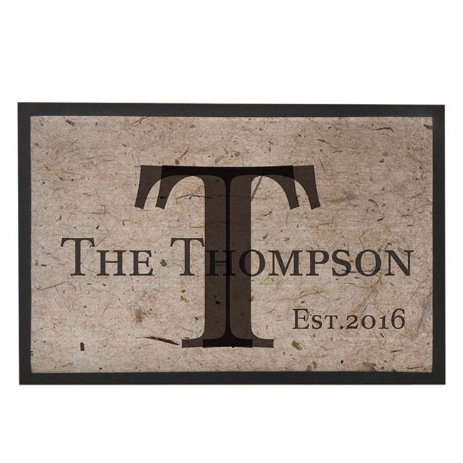Funny entrance custom rubber floor mat, front door mat with anti slip