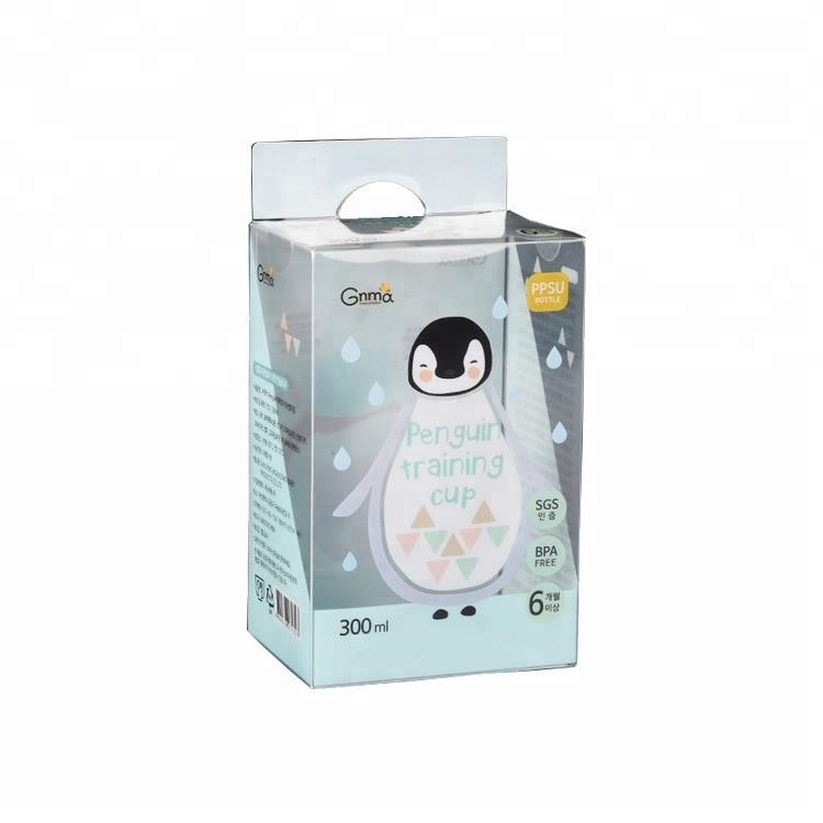 Colorful Logo Baby Nursing Bottle Packaging Custom Printed Clear Plastic Pvc Packaging Box with Hook