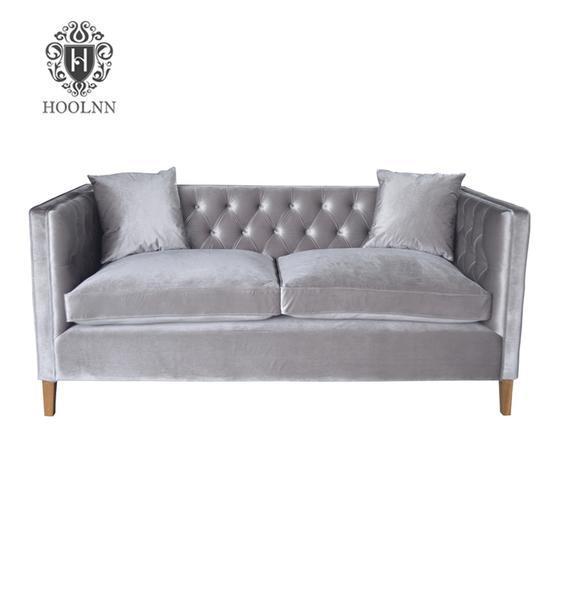 Antique Reproduction European Vintage Leather Solid Wood French sofa furniture HL210-3V