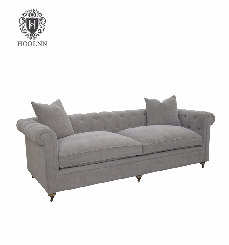 French country style chesterfield sofa for living room S1078-F64