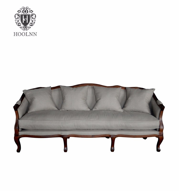French Provincial Living Room Wooden Frame Sofa HL329-3
