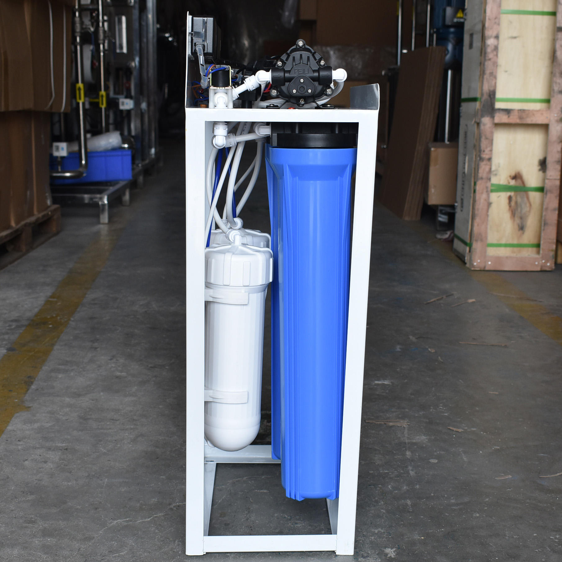 Blue Commercial Water Filter System 600GPD With 11G Water Tank