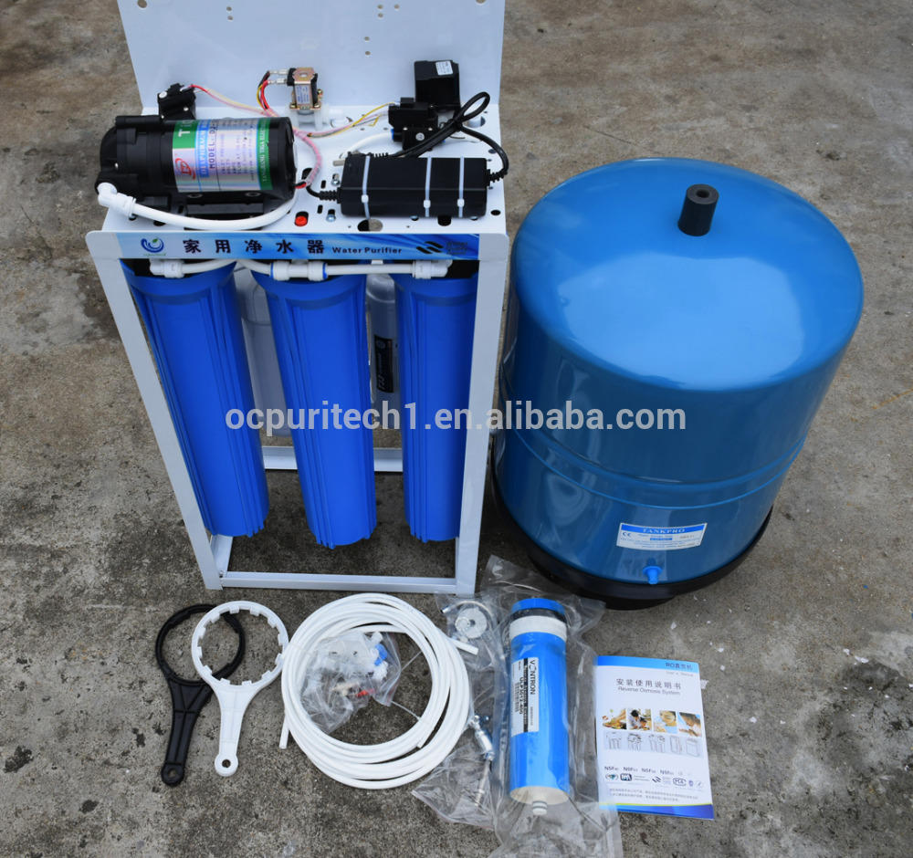 400GPD aqua life micron uv 7 stage reverse osmosis domestic household water filter