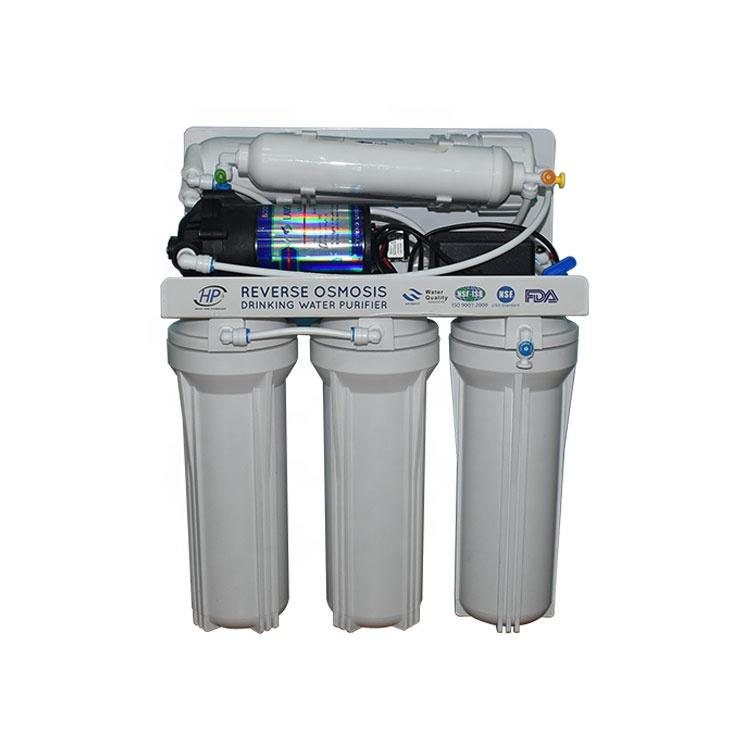 Cheap and durable 6 stage 50GPD household RO system with UV light