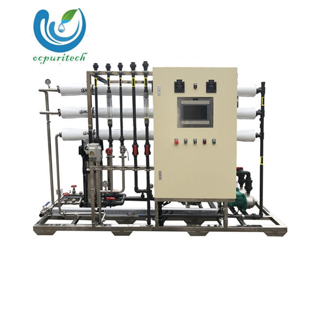 1500lph industrial ro system water purifier