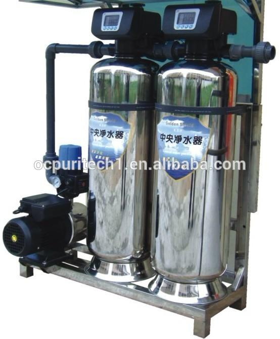 A complete set of stainless steel sand and carbon filter