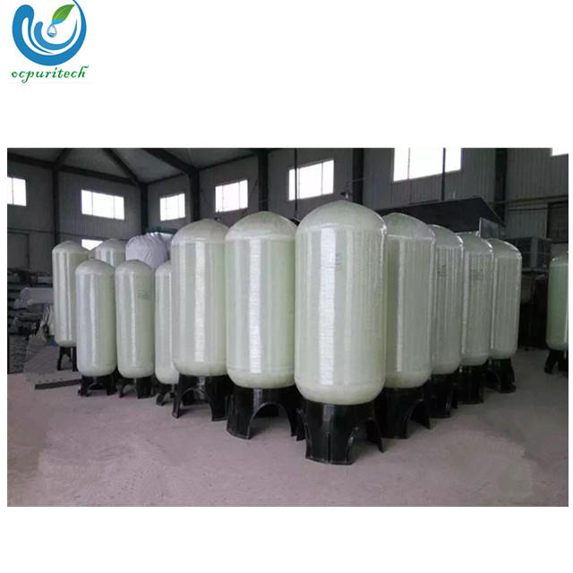 FRP activated carbon & sand filter tank for RO water treatment