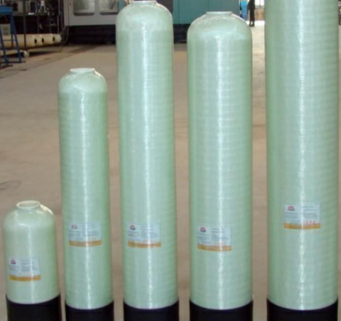 Almond color water treatment FRP pressure tanks