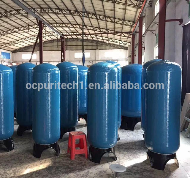 sand filter / carbon filter and softener FRP pressure vessel for water purification