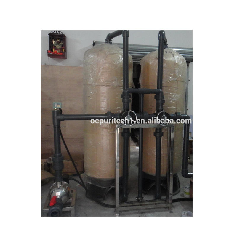 10TPH FRP tank sand filter carbon filter water treatment system