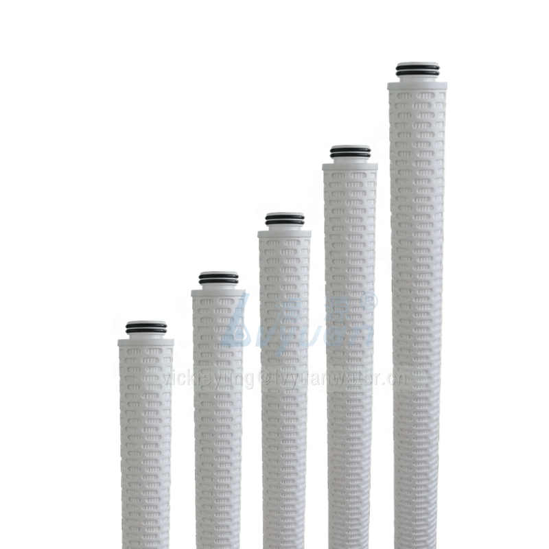 10/20/30/40 inch glass fiber/PP material 222/fin/flat pleated liquid filter cartridge for drinking water treatment