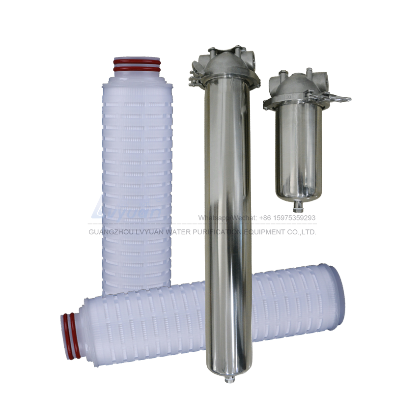 High flow security RO filter 5 micron pleated sediment filter for stainless steel cartridge housing 10 20 inch length