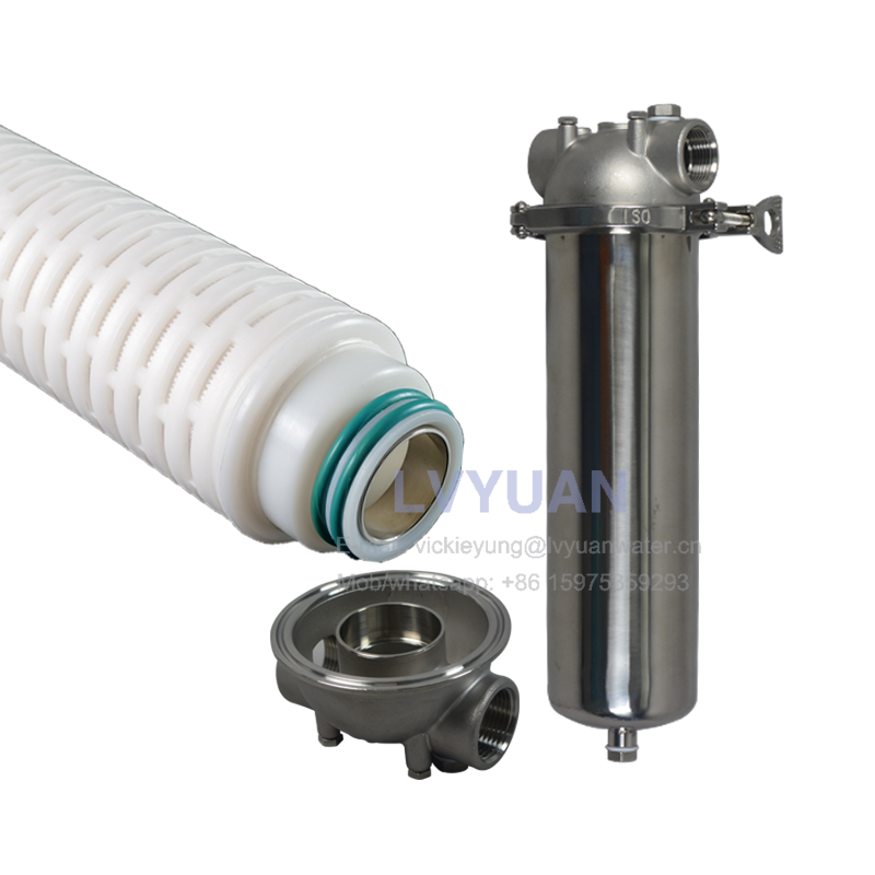 Microporous PP PTFE PES membrane 0.2 micron pleated water filter for 10