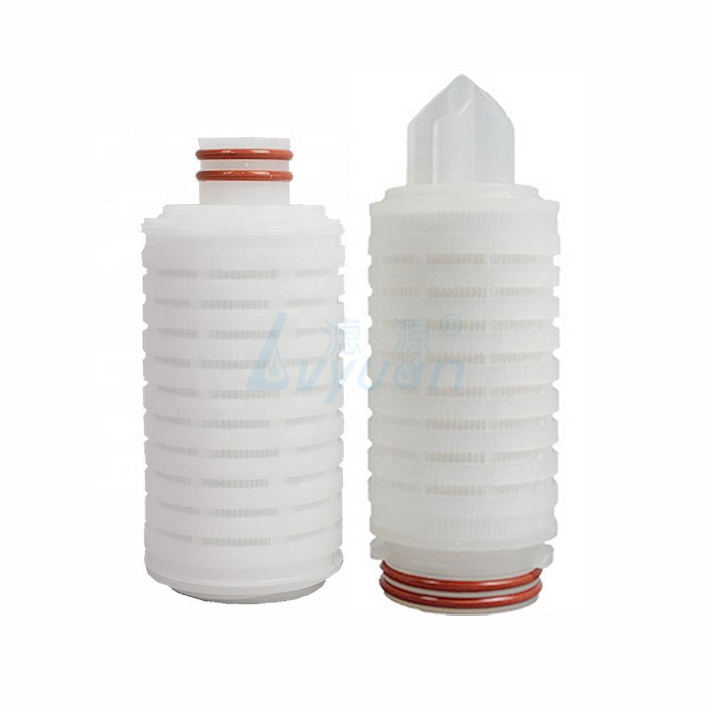 10 20 30 40 inch 0.45 micron pleated filter cartridge pes/pvdf/nylon membrane filter